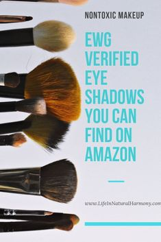 Oct 17, 2019 - Find Non Toxic Eyeshadow right from Amazon! It can be overwhelming to research and shop for EWG Verified, non toxic makeup products. Use this guide to help! Non Toxic Makeup Foundation, Non Toxic Makeup Brands, Clean Makeup, Makeup Tips, Beauty Makeup, Mineral Fusion, Clean Beauty, Beauty Tips, Everyday Makeup