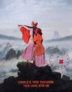 Nurse above the Sea of Fog  (Der Wanderer über dem Nebelmeer [El caminante sobre el mar de nubes]  by Caspar David Friedrich)