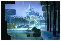 Eyvind Earle, surrealist artist, Earle was a major contributor to the Disney style for many years. His landscapes which are seen from far above, are fascinating to me.