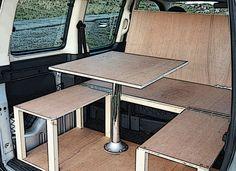 Cheap £399 Citroen Berlingo & Peugeot Partner camper van conversion module.