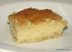 "Galaktoboureko is a Greek recipe which when translated, means ""Milk Pie"".  It has a custard center."