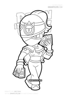 You are in the right place about Brawl Stars Coloring Pages Here we offer you the most beautiful pictures about the Brawl Stars Coloring Pages you are look Star Coloring Pages, Printable Coloring Pages, Star Character, Character Drawing, Super Easy Drawings, Iris, Kung Fu Panda, Drawing S, Art Sketches