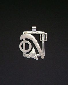 Sterling Silver Contemporary Abstract Pendant by SignetureLine, $75.00