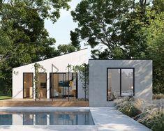 Garden Studio, Home Studio, Granny Flat Plans, Aluminium Windows And Doors, Timber Walls, House Extensions, Architect Design, Architecture, Future House