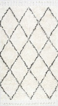 nuLOOM Natural Moroccan Rug with Tassle | Shags, Contemporary Rugs