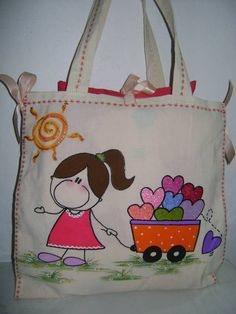 Flower Embroidery Designs, Hand Embroidery Stitches, Fabric Bags, Fabric Scraps, Diy Bag Designs, Free Mosaic Patterns, Jute Bags, Patchwork Bags, Cartoon Pics