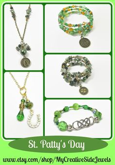 Celebrate the Irish holiday with fun jewelry.  SHOP:https://www.etsy.com/shop/MyCreativeSideJewels
