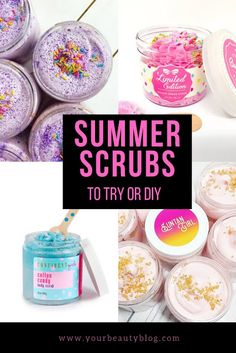 The best summer body scrub to buy or DIY. These natural body scrub recipes and products are perfect gift ideas. Make an easy sugar scrub recipes for DIY beauty or buy a natural homemade body scrub. Some of these exfoliating recipes use essential oils so Body Scrub Recipe, Diy Body Scrub, Sugar Scrub Recipe, Sugar Scrub Diy, Diy Scrub, Sugar Scrubs, After Sun, Coconut Oil Body Scrub, Body Butter