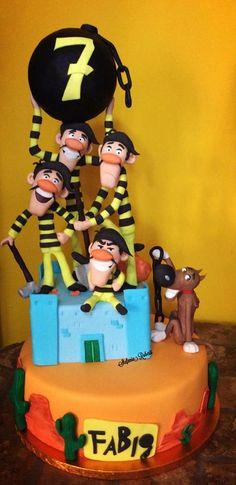 torta-dei-dalton 1 Lucky Luke, Let Them Eat Cake, Whimsical, Birthday Cake, Pasta, Kit, Sweet, Desserts, Design