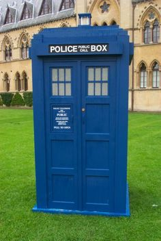 police box---Tardis, perhaps?