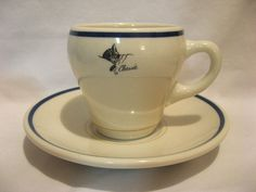 CHESAPEAKE & OHIO CHESSIE RAILROAD CHINA SHENANGO CUP & SAUCER