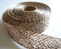 Snake Ribbon, Offray Jungle Snake Skin Print Polyester Ribbon 1 1/2 inches wide x 10 yards