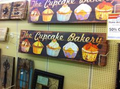 Cupcake sign for my kitchen