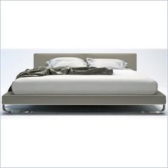 Modloft Chelsea Bed in Dusty Grey Leather.  save $100 code cymax100+free shipping thru 6/3/13
