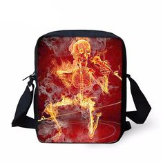 Skull Messenger Bags - Multiple designs. new children school bags flame  rock punk skull bag for ... 3fbad89f5a3fd