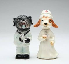 Appletree Hospital Dog Salt and Pepper Shaker Set by Appletree Design inc. $16.49. 2 piece set salt and pepper. Hand wash to insure longevity. Dolomite material. Enjoy this unique hospital Salt and Pepper Shaker, perfect in your kitchen or as a gift for someone special. Comes gift boxed.