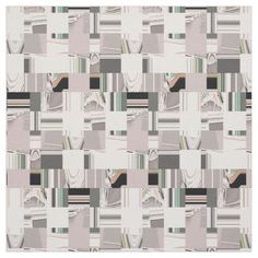 Abstract Art Tiled Fabric / Select from 7 fabric types! #fomadesign