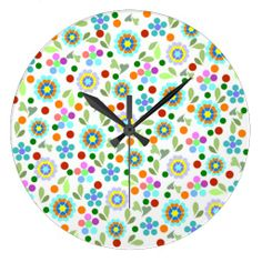 Customizable Pretty clocks from Zazzle. Choose a pre-existing design for your wall clock or create your own today! Bright Spring, Spring Flowers, Create Yourself, Clock, Pretty, Wall, Design, Home Decor, Watch