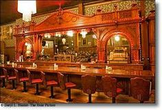 Irma Hotel, Cody WY. This is the famous back bar made of cherry that was a gift given by Queen Victoria to Buffalo Bill.