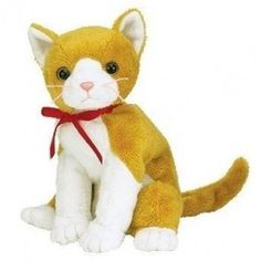 TY~TANGLES THE GINGER & WHITE CAT BEANIE BABY. Free Delivery    eBay