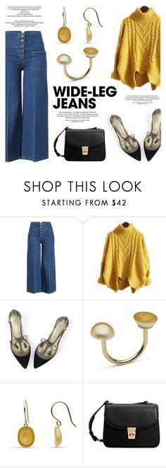 """""""Wid-Leg Pants!"""" by littlehjewelry ❤ liked on Polyvore featuring Marc Jacobs, Boden, MANGO and StyleNanda"""
