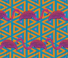 Flamingo Retro on Geometric Background custom wallpaper by mariafaithgarcia for sale on Spoonflower Flamingo Print, Pink Plastic, Perfect Wallpaper, Design 24, Geometric Background, Custom Wallpaper, Textured Walls, Custom Fabric, Spoonflower