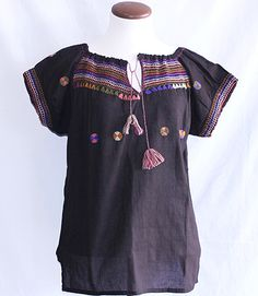 Lightweight Chamula Blouses from Mexico