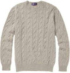 Round Neck Cable Knit.