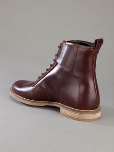 Swear of London Chaplin 2 boot in red leather.