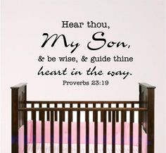 I want this verse in my sons' rooms!