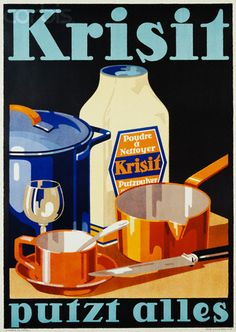 Krisit ad, from 1928 - Vintage - Nettoyant - Affiche
