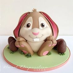 bunny cake - could adapt to clay
