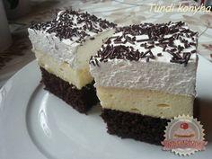 Amerikai krémes Hungarian Cake, Hungarian Recipes, Ital Food, Eastern European Recipes, Pastry Cake, Vanilla Cake, Cheesecake, Cooking Recipes, Sweets