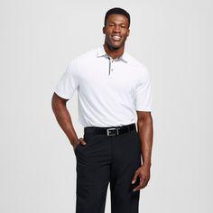 Men's Big & Tall Pique Golf Polo - C9 Champion - White Heather 2XBT, Size: 2XB Tall, True White