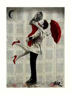 View LOUI JOVER's Artwork on Saatchi Art. Find art for sale at great prices from artists including Paintings, Photography, Sculpture, and Prints by Top Emerging Artists like LOUI JOVER. Couple Painting, Couple Art, Love Drawings, Art Drawings, Journal D'art, Art Amour, Romantic Paintings, Newspaper Art, Rain Art