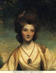 Lady Elizabeth Compton. Detail. 1781.