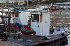 Small fishing boats in fishing port Marbella