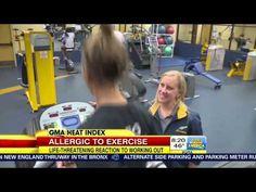 UT Soccer Player Allergic to Exercise - Good Morning America - YouTube
