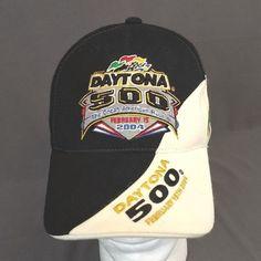7b77c10fd64 2004 Daytona 500 StrapBack Hat Baseball Cap Nascar Embrodiered Flags   TwinsEnterprise  Nascar