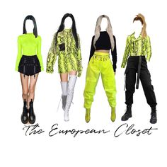 Best Vintage Outfits Part 19 Neon Outfits, Kpop Fashion Outfits, Blackpink Fashion, Edgy Outfits, Swag Outfits, Mode Outfits, Dance Outfits, Korean Fashion, Black Outfits