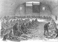 A stone-breaking yard at Bethnal Green, 1868