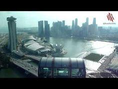 Vista silenciosa de la fabulosa Singapur desde la noria Singapore Flyer