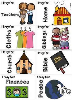 PRAYER Sticks + Tags - Spanish and English by Recursos Arcoiris Prayer Circle, Children Ministry, Daily Prayer, Sticks, Card Stock, Kindergarten, Spanish, Prayers, English