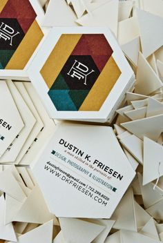 Personal Business Cards by Dustin Friesen, via Behance - Want to get your own business card design?