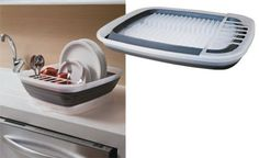Ótima opção para quem tem cozinha integrada à sala, este escorredor de pr...