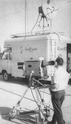 Equipo de exteriores, Canal 13, Santa Fe, Argentina, década del 70.