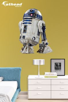 """""""This R2D2: The Force Awakens Fathead is perfect. Durable and exactly as advertised. Love it. This was my fifth Fathead purchase. I will always go back when needed."""" Explore Star Wars wall art decor at  http://www.fathead.com/star-wars/star-wars-movies/r2-d2-star-wars-the-force-awakens-wall-decal/ 