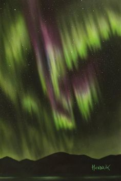 Northern Lights, Nature, Painting, Travel, Etsy, Vintage, Naturaleza, Viajes, Painting Art