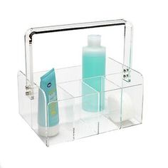 The Container Store > 5-Section Acrylic Tote