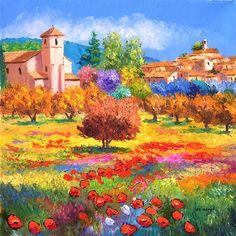 L'été à LOURMARIN - Jean-Marc JANIACZYK, peinture provençale